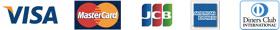 クレジットカード払い VISA MASTER JCB AMEX ダイナース