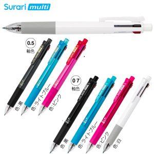 スラリマルチ 4色エマルジョンボールペン+シャープペン